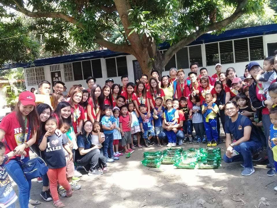 IETI NSTP Students Community Service in Tahanan ni Maria